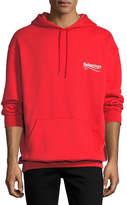 Balenciaga Campaign Logo Hoodie Sweatshirt, Red