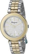 Salvatore Ferragamo Women's FIC040015 Intreccio Analog Display Quartz Two Tone Watch