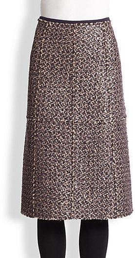 Tory Burch Sequined Bouclé Skirt