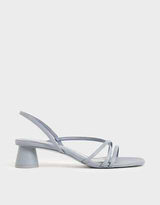 Charles & Keith Strappy Cylindrical Heel Sandals