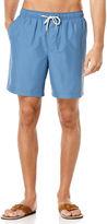 Cubavera Solid Full Elastic Swim Short