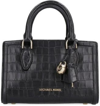 MICHAEL Michael Kors Zoe Crocodile Print Leather Handbag