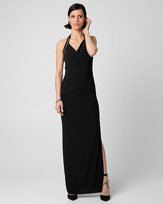 Le Château Knit Halter Maxi Dress
