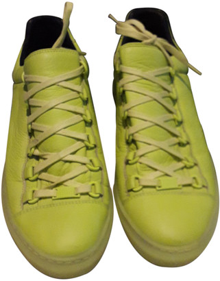 Balenciaga Match Yellow Leather Trainers
