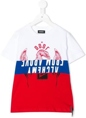 Diesel colour-blocked DDDL T-shirt