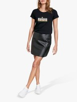Hush Triple Manana Slogan T-Shirt, Black
