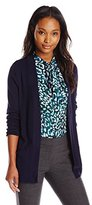 Anne Klein Women's Long Sleeve Two Pocket Cardi