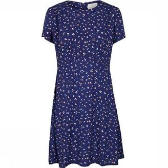 Nümph Blue Tiny Flower Print Anoma Dress - small (36) | viscose