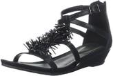 Kenneth Cole Reaction Women's Fringe T-Strap Wedge Sandal