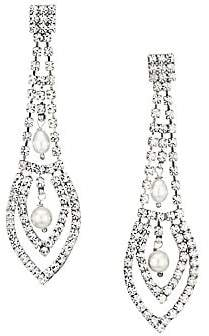 Gas Bijoux Women's Lucia Strass 24K Goldplated, Crystal & Mother-Of-Pearl Chandelier Earrings