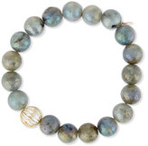 Sydney Evan Mystic Labradorite Bead Bracelet w/ 14K Gold Diamond Sphere Bead