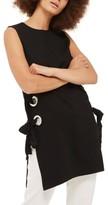 Topshop Women's Lace-Up Grommet Tunic