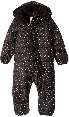 Appaman Kids Lightweight Snowsuit (Infant) (Silver Hearts) Girl's Jumpsuit & Rompers One Piece