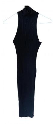 The Line By K Black Cotton - elasthane Dresses