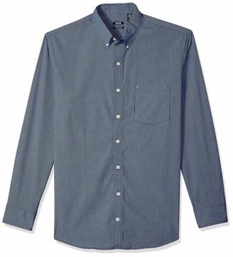 Izod mens Big and Tall Long Sleeve Stretch Performance Check Button Down Shirt