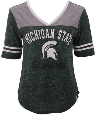Colosseum Women Michigan State Spartans Mr Big V-neck T-Shirt