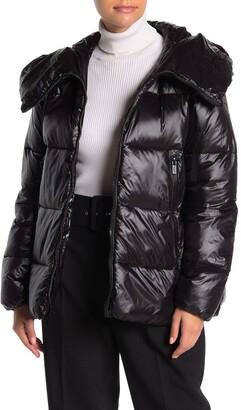 Rachel Roy Hooded Zip Puffer Jacket