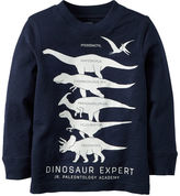 Carter's Long-Sleeve Glow-In-The-Dark Dinosaur Expert Graphic Tee