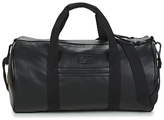 Fred Perry TUMBLED PU BARREL BAG men's Sports bag in Black