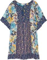 Joie Cycla floral-printed silk-georgette mini dress