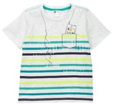 Petit Lem Cell Phone Printed Tee (Toddler & Little Boys)