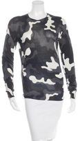 Christopher Kane Silk Camouflage Sweater