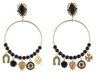 Dolce & Gabbana Crystal & Resin Drop Earrings