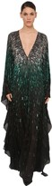 Azzaro Sequin Embellished Silk Chiffon Dress