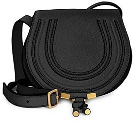 Chloé Small Marcie Leather Saddle Bag
