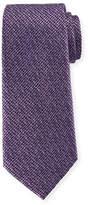 Ermenegildo Zegna Grafiato-Check Silk Tie