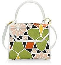 Nancy Gonzalez Women's Lily Mosiac Crocodile & Snakeskin Top Handle Bag