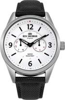 Ben Sherman Men's 'Big Carnaby Utility' Quartz Silver-Tone and Nylon Casual Watch, Color:Black (Model: WB069WB)