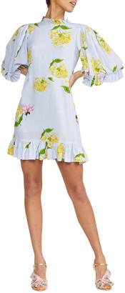 Cynthia Rowley Tayla Floral-Print Mini Ruffle Dress