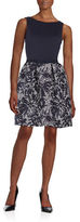 Taylor Patterned Texture Fit-and-Flare Dress