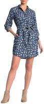 Velvet Heart Anita Button Down Linen Blend Shirt Dress