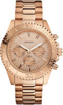 GUESS Watch, Men's Chronograph Rose Gold-Tone Stainless Steel Bracelet 45mm U0170G4