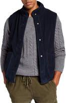 Save Khaki Men's Sherpa-Lined Corduroy Vest