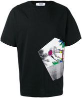 MSGM skate print T-shirt - men - Cotton - M