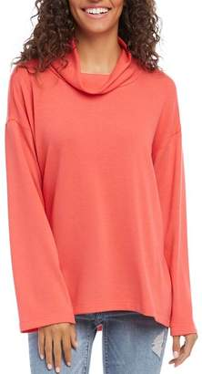 Karen Kane Cowl-Neck Long Sleeve Top