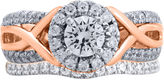 JCPenney MODERN BRIDE Modern Bride Signature 1 CT. T.W. Diamond 14K Rose Gold Bridal Ring Set