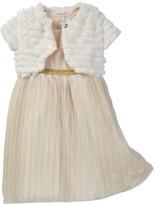Nannette Baby Sparkle Dress & Faux Fur Shrug Set (Little Girls)