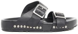 Alexander McQueen Studded Buckle Slides