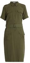 Equipment Petra short-sleeved silk shirtdress