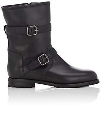 Manolo Blahnik Women's Sulaltra Leather Moto Boots - Black Leather