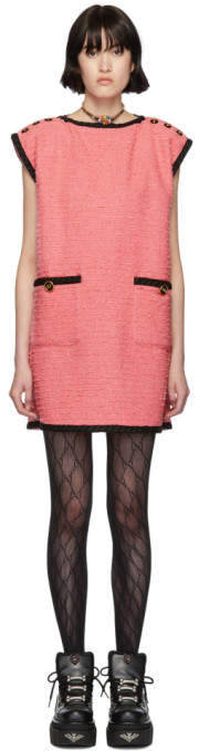 Gucci Pink Tweed GG Dress