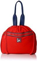 Tommy Hilfiger Nylon Drawstring Tote Shoulder Bag