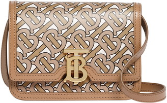 Burberry Mini TB Monogram Leather Crossbody Bag