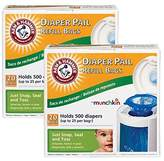 Munchkin Arm & Hammer Diaper Pail Refill Bags, 40-Count by