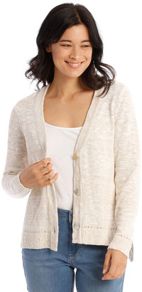 Regatta V-Neck Cardigan With Hi-Lo Hem