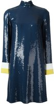 Emilio Pucci sequined high neck dress - women - Silk/Viscose - 42